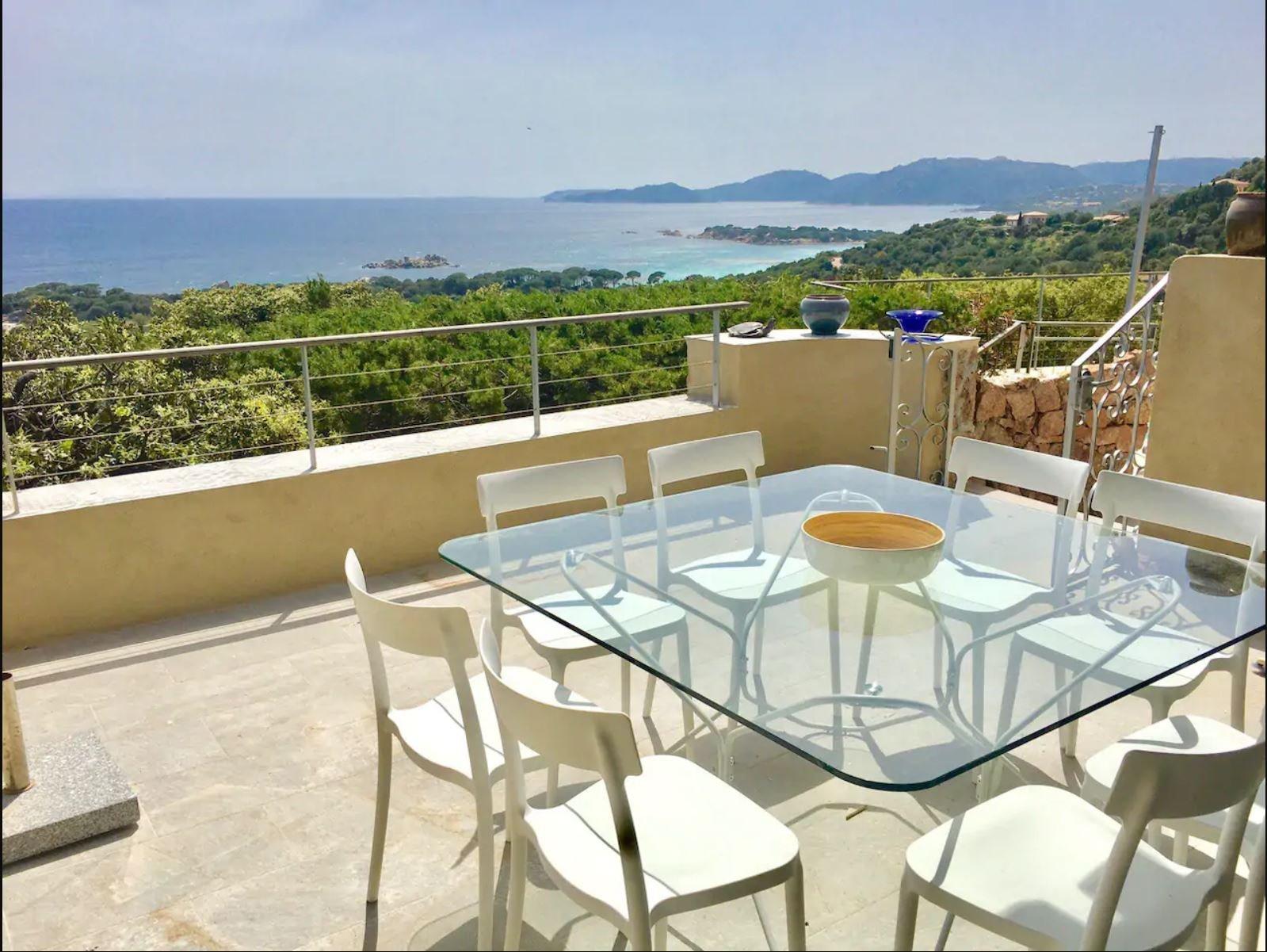Villa T4 – Vue mer panoramique – Piscine – Palombaggia